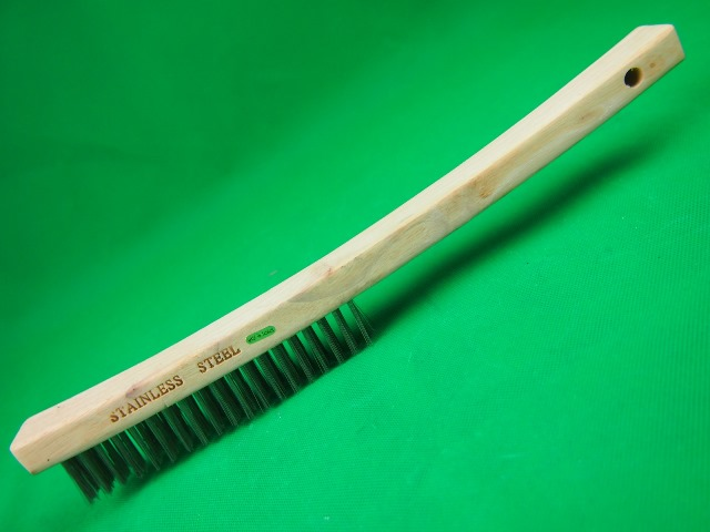 Wire Brush Stainless Steel Wood Handle 4 Row Wire Brushes Carbon