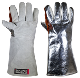 MagnaShield® Aluminised Preox Safety Gloves - Leather Palm