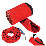 Cable Cover 4.0mtr 200mm RED Grain Leather  CCBR40200