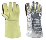 MagnaShield Aluminised Preox Gloves - Woven Kevlar Palm