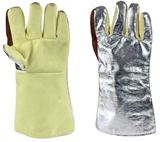 MagnaShield Aluminised Kevlar Gloves - Leather Palm - KGLFW18FK - 475mm