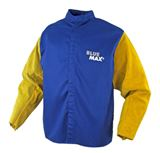 BLUE MAX FR Cotton + leather sleeves Large
