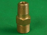 "Right Hand Brass Gas Regulator Nipple fitting 5/8"" 18UNF"