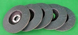 "5Pcs Flap Discs 4.5""-115mm x 22mm Zirconia Steel/Stainless"