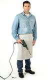 1/2 Apron Chrome Leather 609mm x 609mm